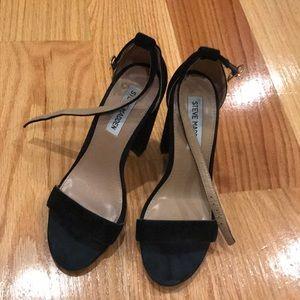 Carrson Steve Madden black suede block heel